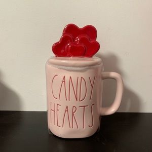 Rae Dunn Valentine Candy Hearts Mug with Topper